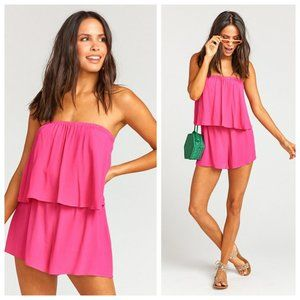 NWT Show Me Your Mumu Pink Thelma Tiered Romper